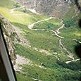 Homer Tunnel Road from the air