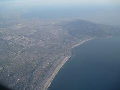 Somewhere over LA