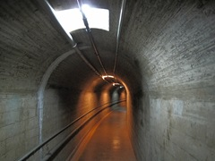 Tunnels in the dam