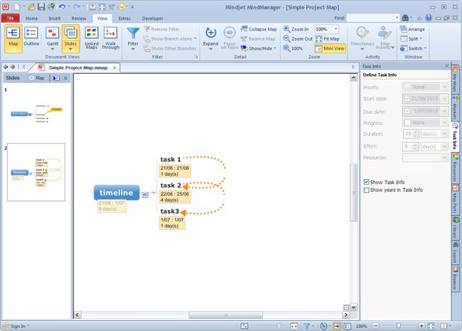 MindManager9_UI_View_Slide