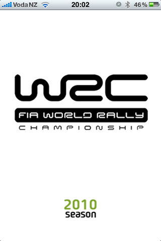 Yay, the WRC app appeared in the Nz App Store!