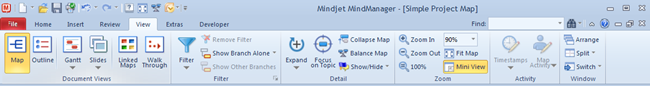 MindManager9_Ribbon_Tab_View