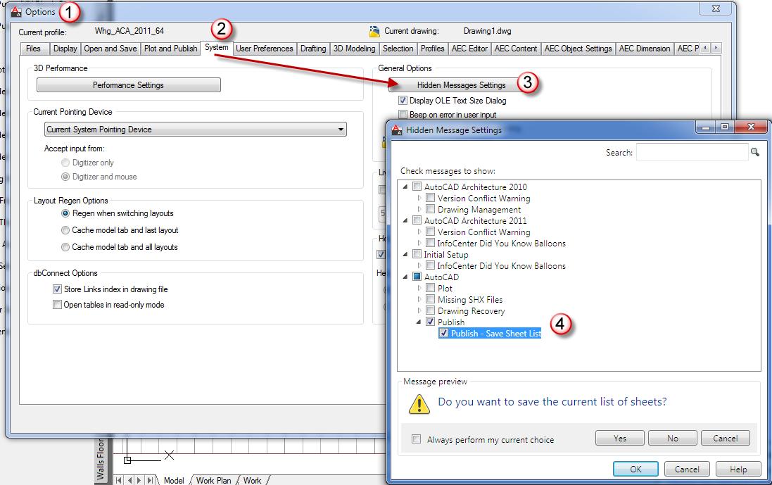 Restore AutoCADs Hidden Messages - RobiNZ CAD Blog