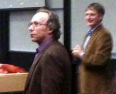 Lawrence Krauss introduced by Physics  HOD Prof Richard Easther at Auckland Uni