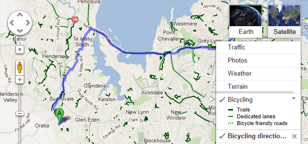 Cycling Directions now in Google Maps New Zealand - RobiNZ CAD Blog