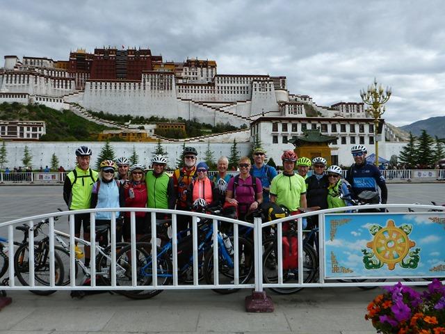 Group photo outside the Potala