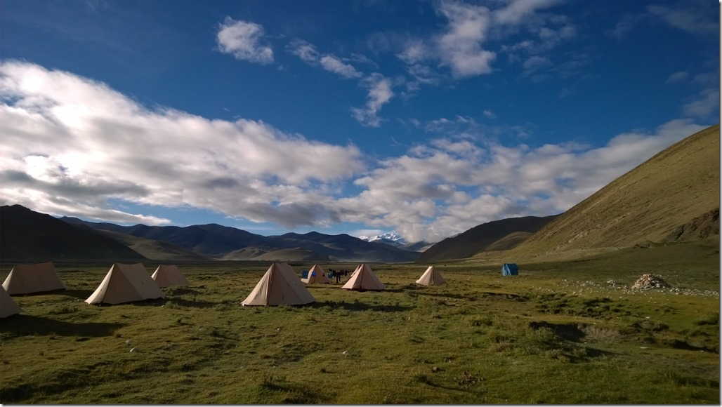 Our camp in the Himalaya