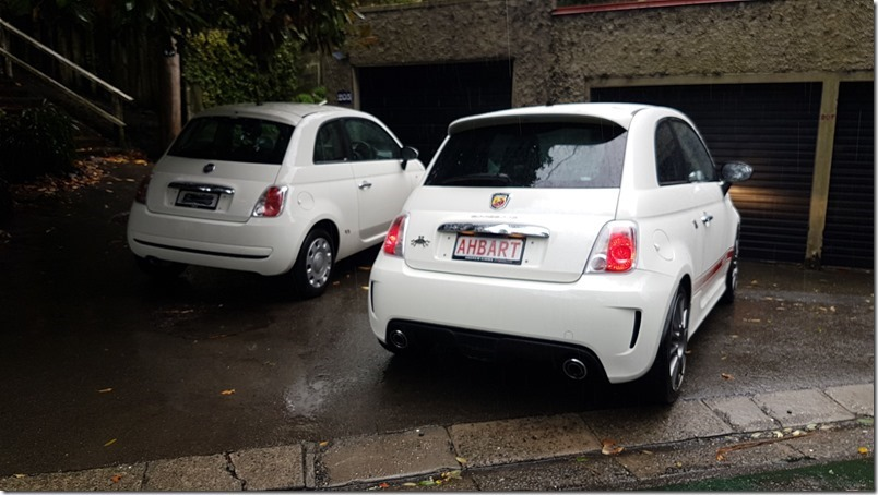 Abarth 500 and Fiat 500