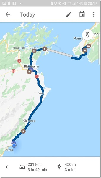 Todays Travel Map