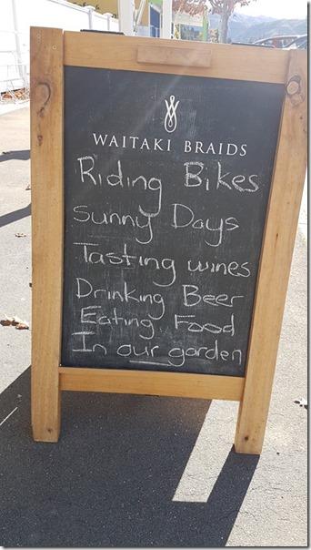 Waitaki Braids Sign
