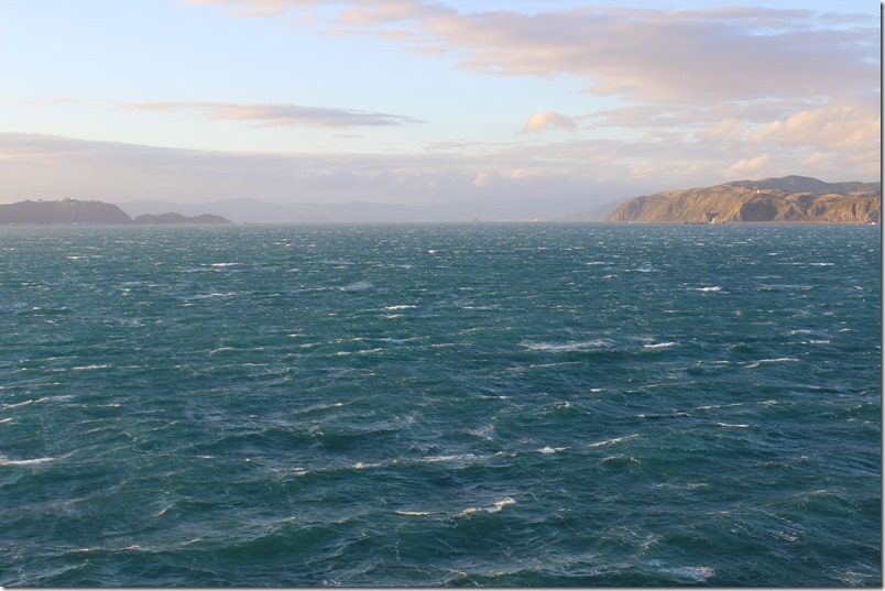 Cook Strait towards Wellington Harbour