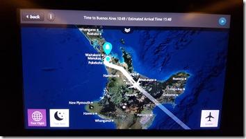 NZ - ARG Flight Map NZ Depart