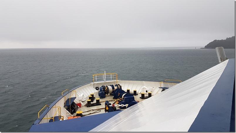 Leaving Wellington on the Bluebridge Ferry