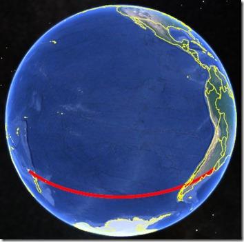 Globe Flight Path Direct Rotated