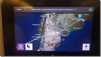 NZ - ARG Flight Map ARG Arrival