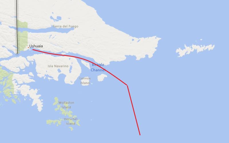 Ushuaia_Beagle Channel_Map
