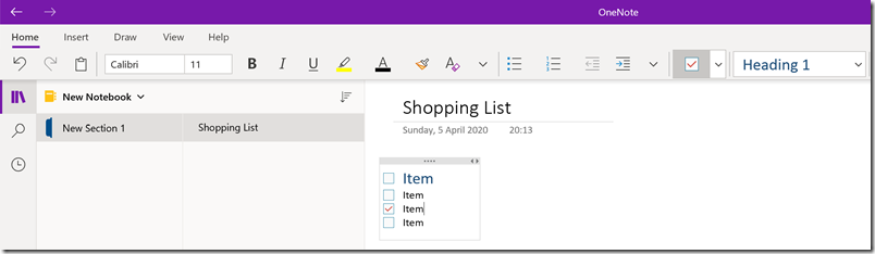 OneNote_New_Page_Item_ToDo