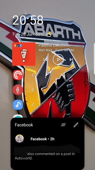 Niagara Launcher Nofification showing