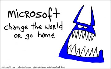 Microsoft The Blue Monster, used with permission from Gapiing Void