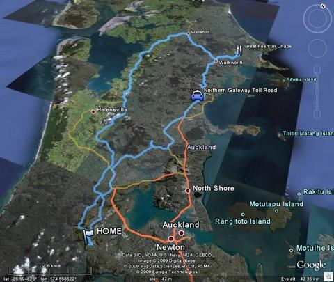 northern gateway toll road loop google earth