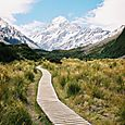 Towards Aoraki Mount Cook