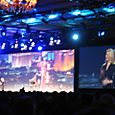 Lynn Allen revs up the mainstage crowd
