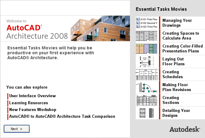 AutoCAD Architecture 2008 - Welcome    - RobiNZ CAD Blog