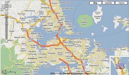 Google Maps Auckland