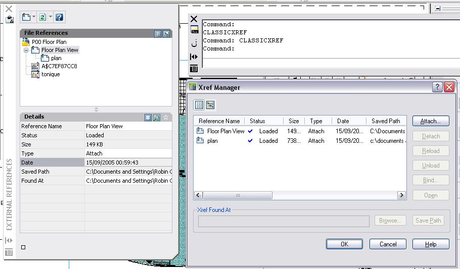 AutoCAD 2007 Xref Manager Palette Vs Dialog - RobiNZ CAD Blog