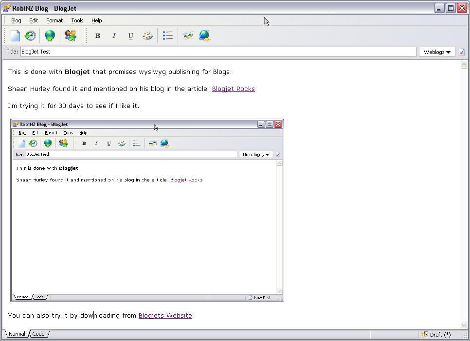 Blogjet window
